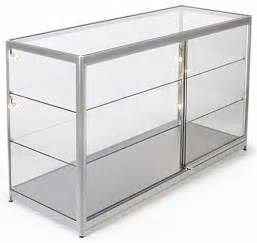 Display Cabinet Extrusions Store Showcase Silver Display For Retail