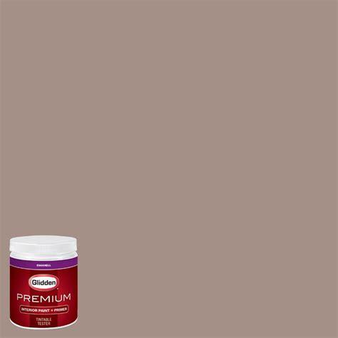 glidden premium 8 oz hdgwn11 mocha mauve eggshell interior paint with primer tester hdgwn11p