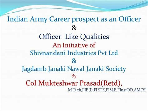 Indian Army Career Authorstream Indian Army Ppt