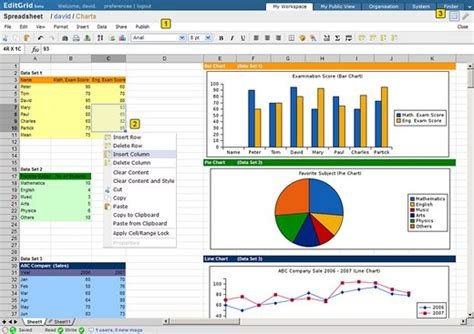 Features Of A Spreadsheet by Editgrid Spreadsheet With Loads Of Features