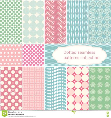 retro polka dot pattern vector by heizel on vectorstock polka dot vector dotted seamless patterns collection