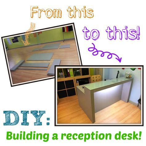 Diy Build A Desk Diy Building A Reception Desk Something On Everything