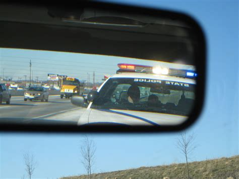 police lights in rear view mirror lights in my rear view mirror license and registration