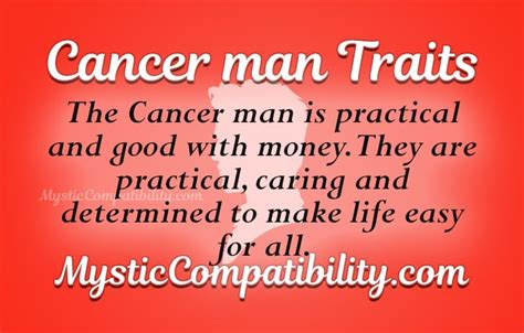 cancer personality traits male personality traits of a cancer
