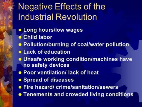 Positive And Negative Effects Of The Industrial Revolution Essay by Unit 5 The Industrial Revolution Ppt