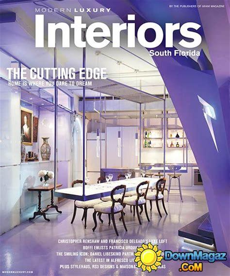 luxury interior design magazines modern luxury interiors south florida summer 2015