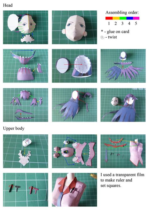 Paper Craft Steps - hitagi papercraft 183 how to make a paper model 183 papercraft