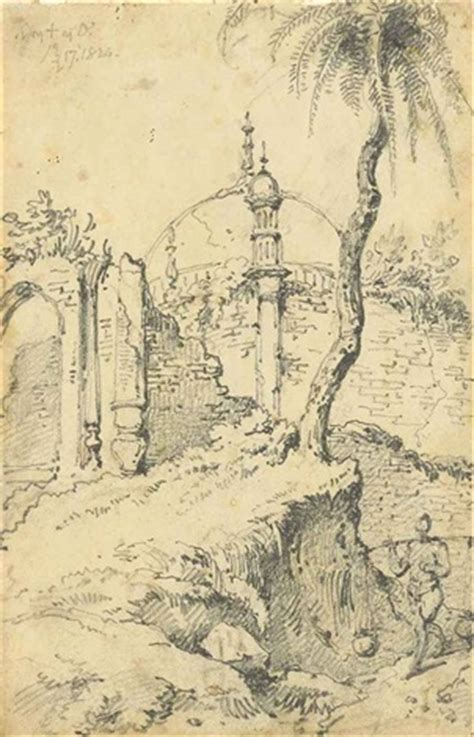 a temple bengal indian sketches 2 works and