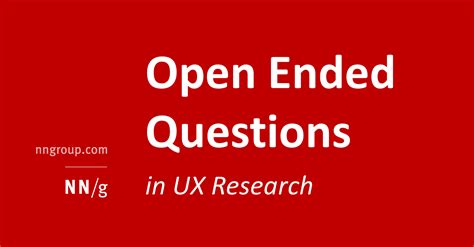 Open Ended Questions In Research Papers by Open Ended Vs Closed Ended Questions In User Research