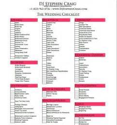 wedding mc checklist template print wedding planning checklist 2016