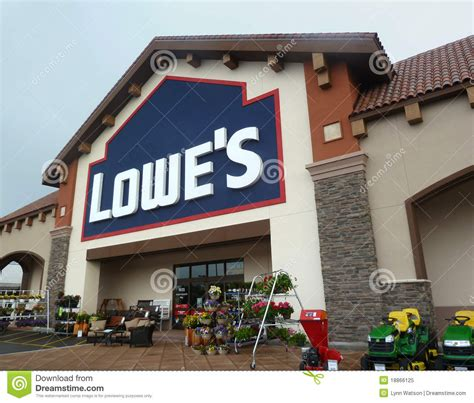 lowe s home improvement store editorial image image