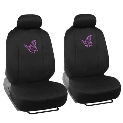 Car Seat Purplem purple butterfly car seat cover front rear set auto