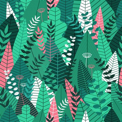 seamless pattern  leaves tropical pattern background