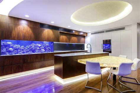 kitchen design aquarium amazing built in aquariums in interior design