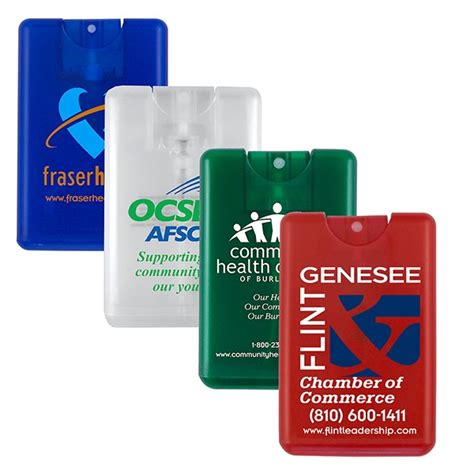 custom credit card shape hand sanitizer spray promo hand sanitizer