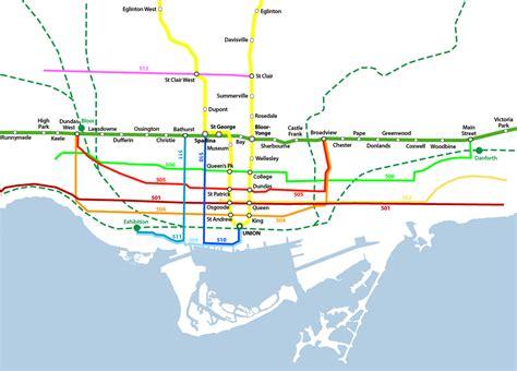 toronto subway map downtown toronto subway map my