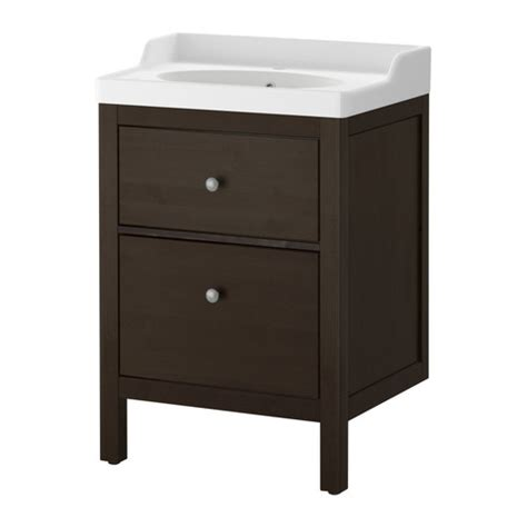 ikea bathroom sinks and cabinets hemnes r 196 ttviken sink cabinet with 2 drawers black brown stain ikea