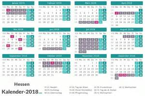 Kalender 2018 Zum Ausdrucken Ferien Hessen Kalender 2018 Mit Feiertagen Und Schulferien