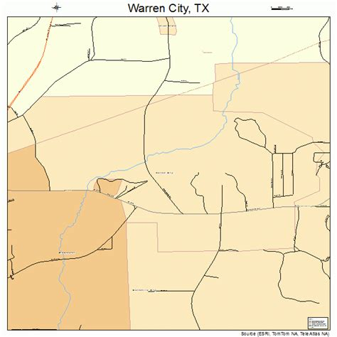 warren texas map warren city texas map 4876576