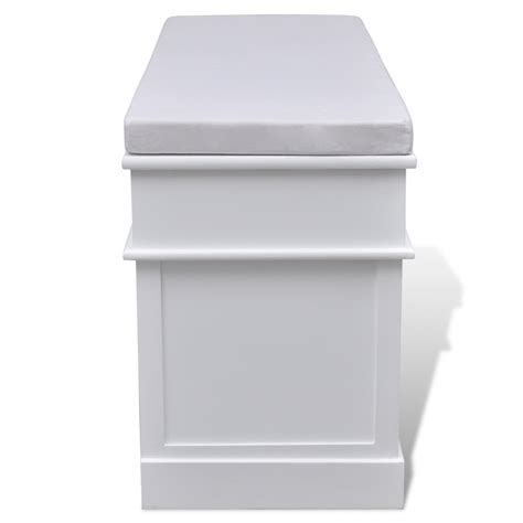 white storage bench with cushion white storage entryway bench with cushion top 2 draw 3