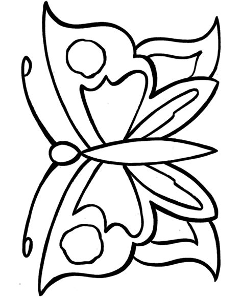 simple coloring pages of butterflies easy butterfly drawings clipart best