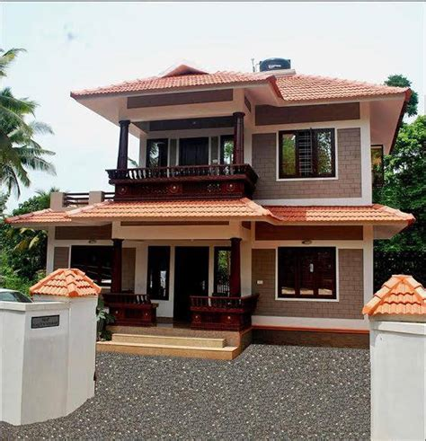 double floor modern style home design 2015 1100 square feet 3 bedroom traditional kerala style double
