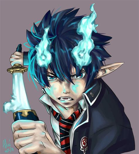 anime demon anime demons images rin okumura hd wallpaper and