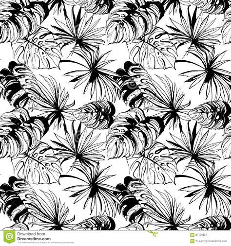 jungle pattern black and white beautiful black seamless tropical jungle floral pattern