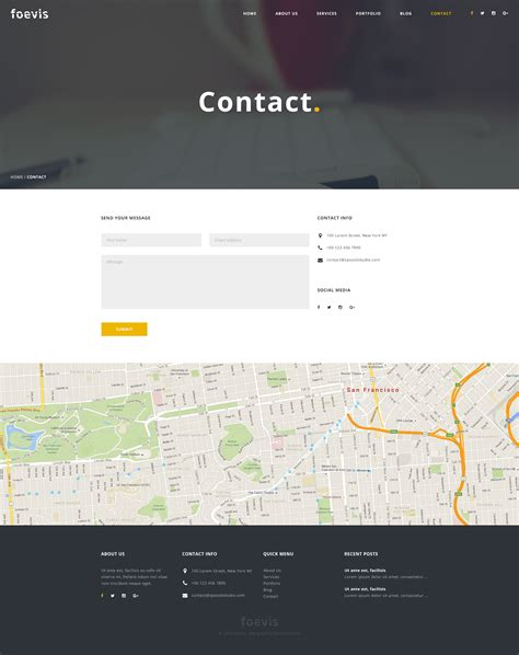 themeforest contact foevis creative agency html5 css3 template by