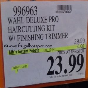 costco sale: wahl deluxe pro haircutting kit with