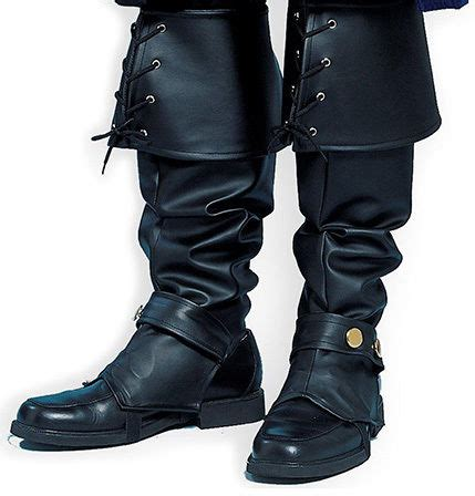 boot tops pirate boot tops covers deluxe black renaissance