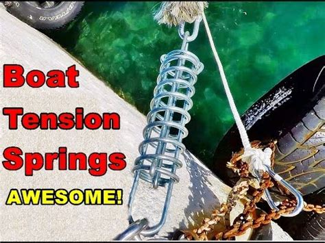 boating for beginners boating for beginners boat tension springs for mooring