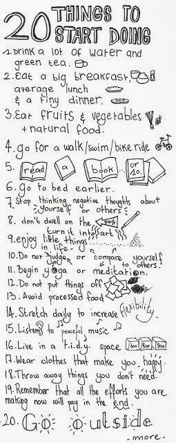 Inspiration quote 20 things new years things to do healthy life