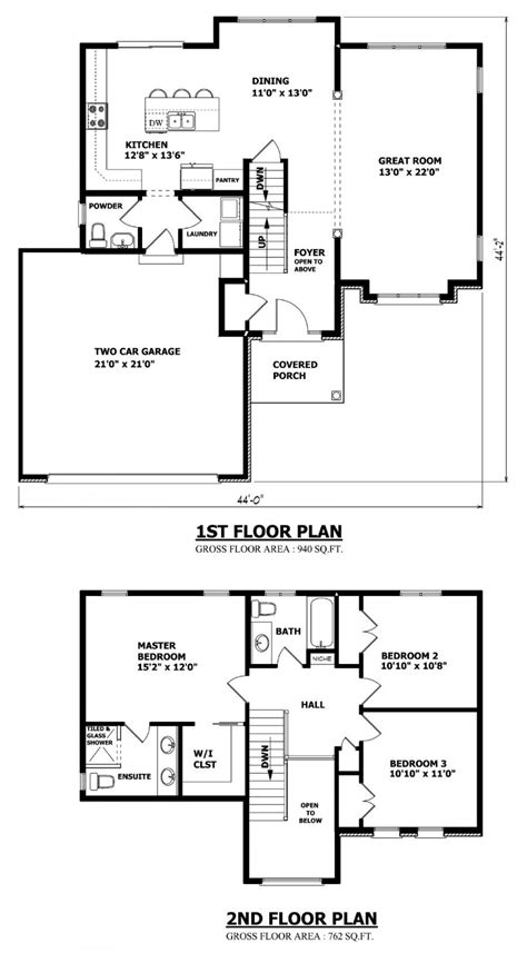 two floor plans home designs custom house plans stock house plans