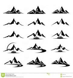 mountain icon clipart set stock image image 30901181