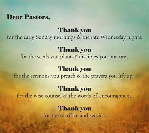 Thank You Letter Our Pastor have you said thank you to your pastor recently verses amp quotes