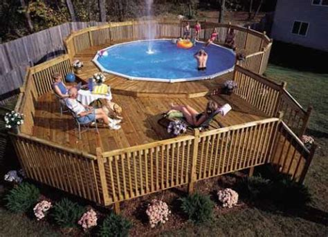 how to build a pool deck above ground pool deck plans
