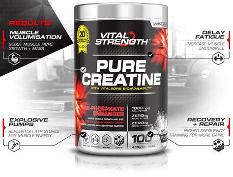 creatine 1 rep max 100 creatine powder 440g vitalstrength