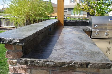 Concrete Countertops For Outdoor Kitchen by Rustic Outdoor Concrete Countertop Kitchen
