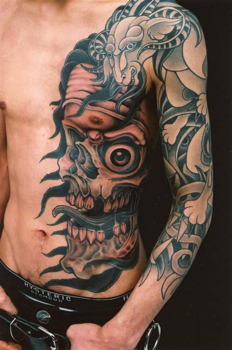 sick side tattoo cool chest ideas for sick tattoos and
