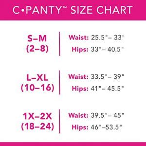 c section recovery instructions c panty fit guide for the right c panty size
