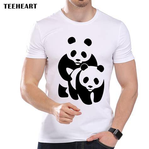 Kaos Animal Panda White teeheart s fashion panda design t shirt cool