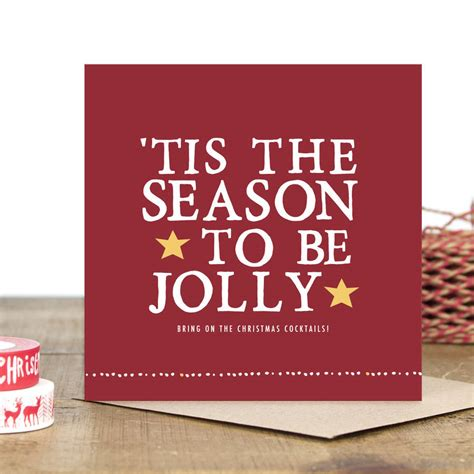 tis the season to be jolly christmas card by zoe brennan