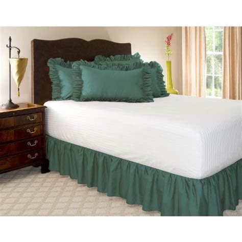 teal bed skirt twin xl teal ruffled bed skirt with 18 quot drop bedding