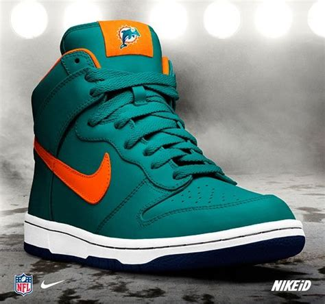 miami dolphins sneakers miami dolphins nike dunk nfl id nike sportswear shoe