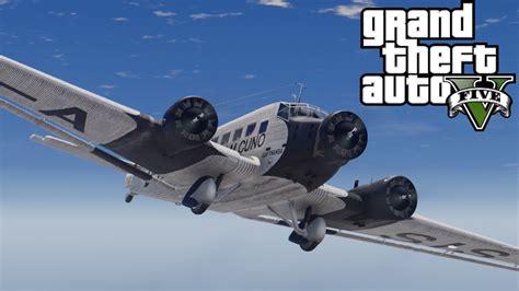 ju 52 3m bomber and 1472818806 gta v junkers ju 52 3m mod youtube