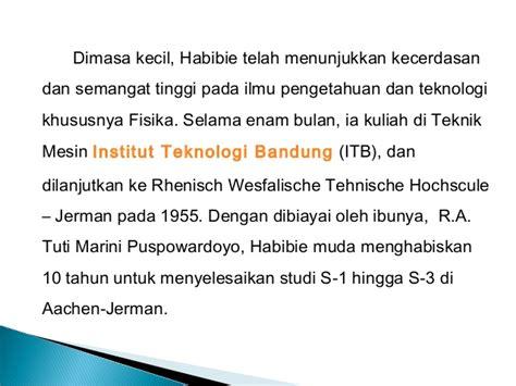 biografi bj habibie dalam bahasa inggris singkat contoh biografi bj habibie cable tos