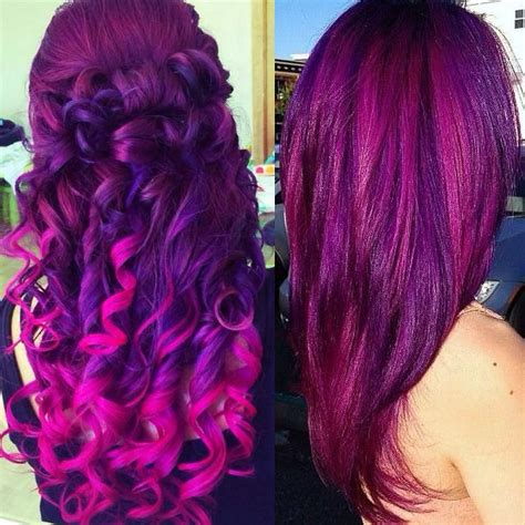 hair color on bottom purpe purple ombre hair colors with dyeable white blonde