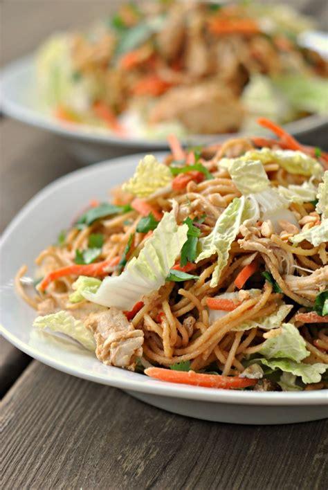 thai pasta salad thai chicken pasta salad weekly menu