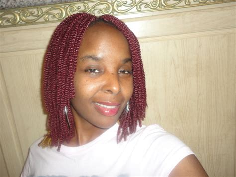 crochet celebrity hairstyles akiyia s red colored nubian crochet twist thirstyroots